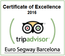 Euro Segway Barcelona - Certificate of Excellence 2016