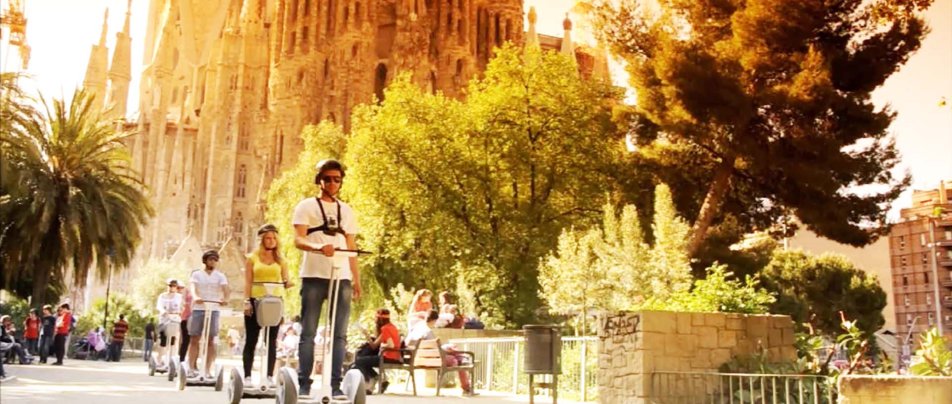 Gaudi segway tour route in Barcelona