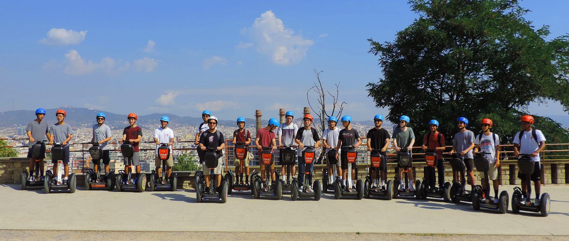 Montjuic segway tour in Barcelona two hours