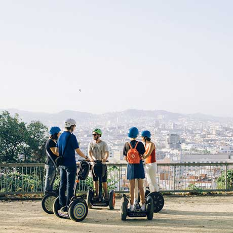 One of the best viewpoints during Montjuic segway tour