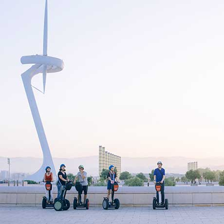 Segway Tour ac Barcelona at Olimpyc Stadium