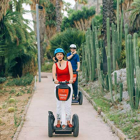 Segway tour Barcelona in the park of Montjuic