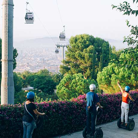 Segway tour on Montjuic hill